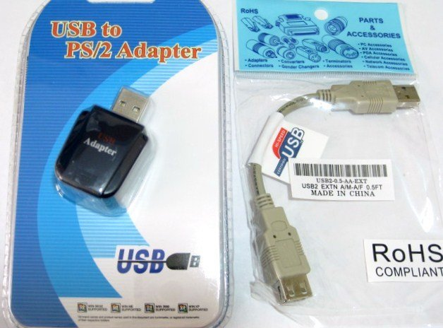 ps/2 to USB adapter converter for keyboards + short USB cable